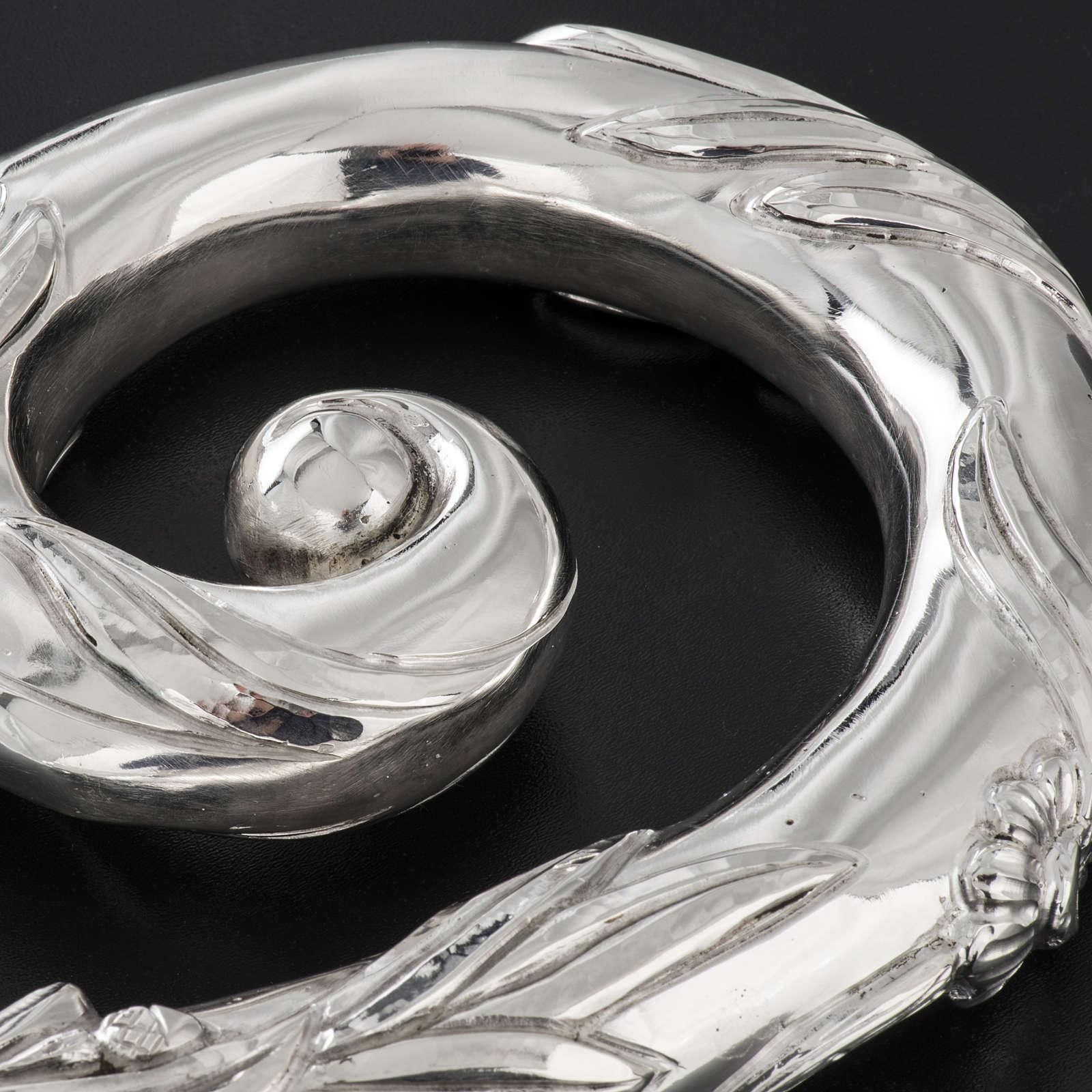 Crozier in 966 silver, electroforming, silver model 3