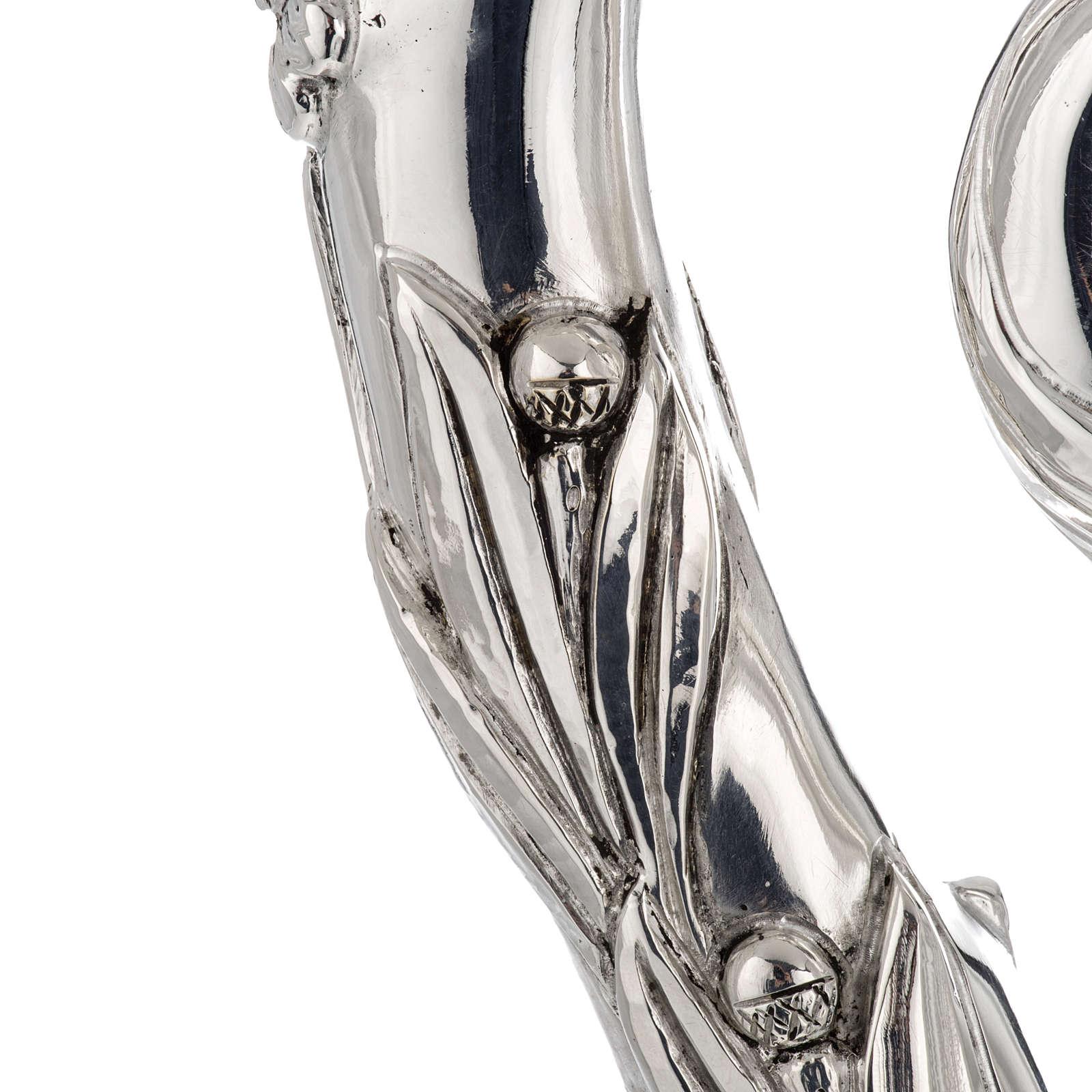 Báculo em prata 966/1000 e metal mod. prateado 3
