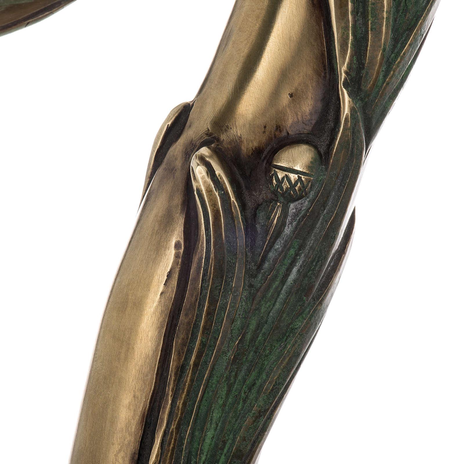 Báculo en plata 966/1000 en galvanoplastia mod. Bronceado 3