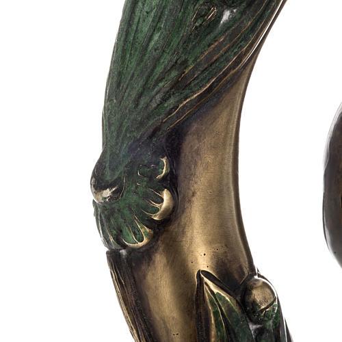 Báculo en plata 966/1000 en galvanoplastia mod. Bronceado 7
