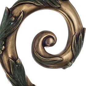 Báculo em prata 966/1000 e metal mod. bronzeado s6