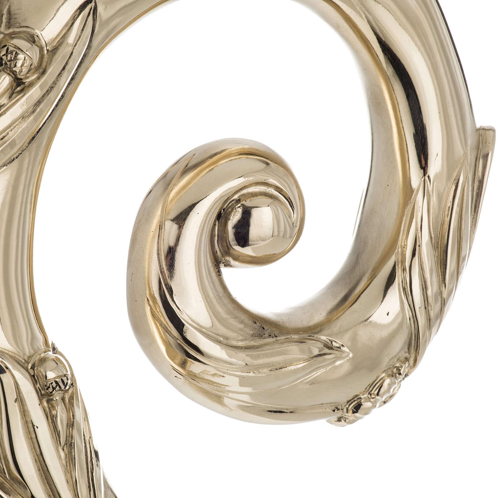Báculo en plata 966/1000 en galvanoplastia mod. Dorado 3