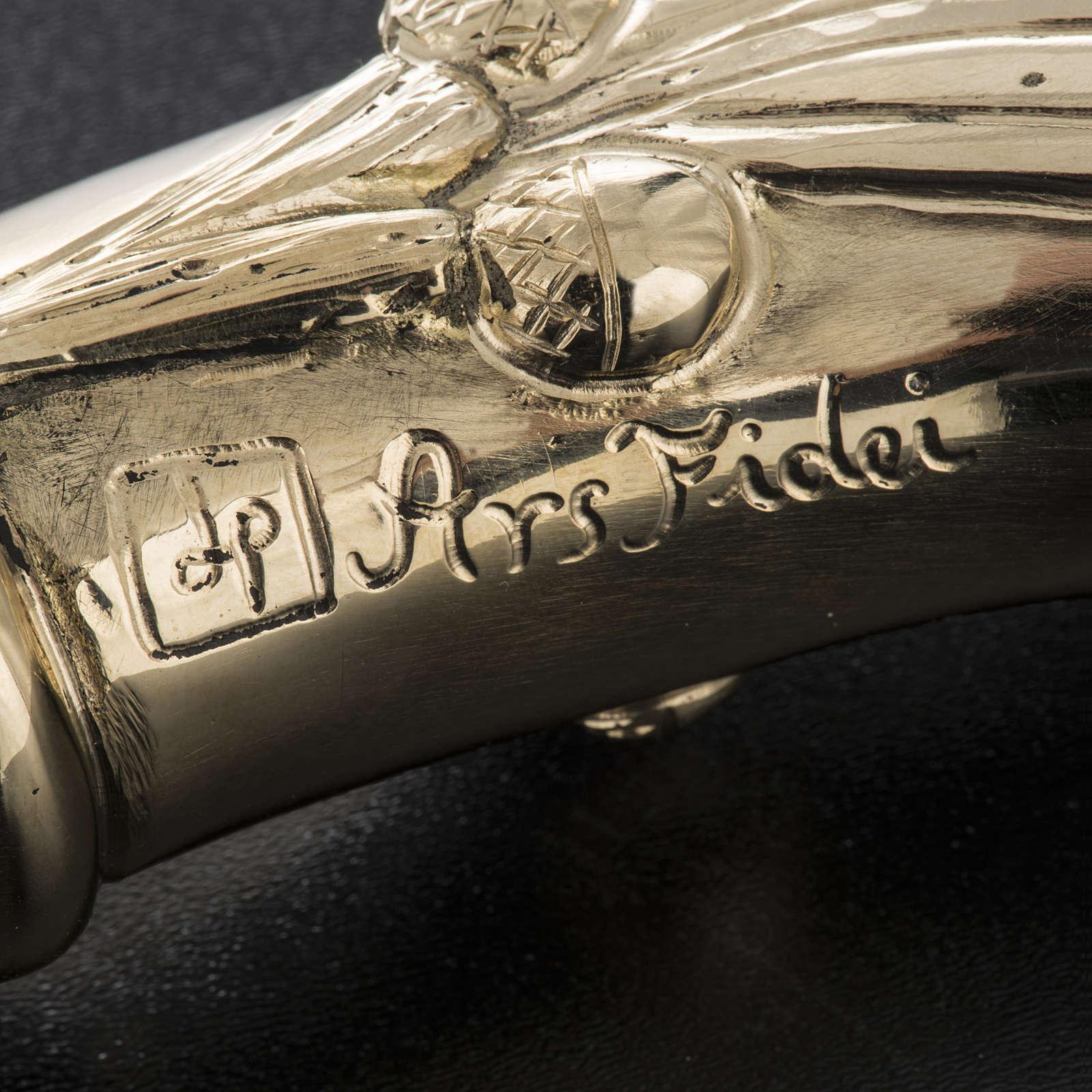 Báculo em prata 966/1000 e metal mod. dourado 3