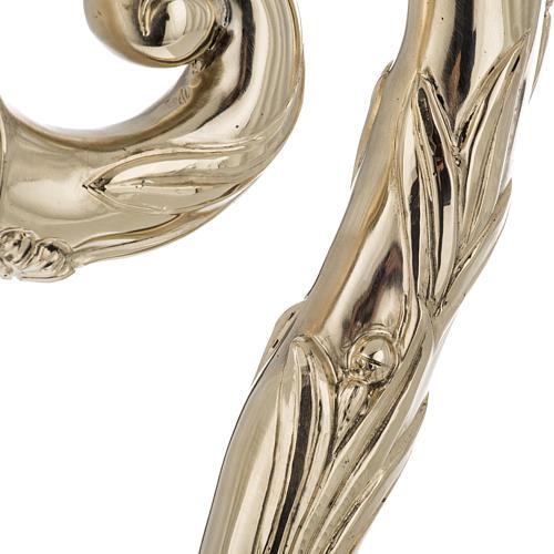 Báculo em prata 966/1000 e metal mod. dourado 4