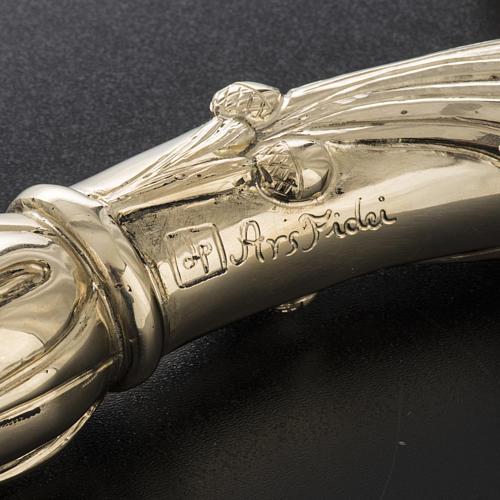 Báculo em prata 966/1000 e metal mod. dourado 8