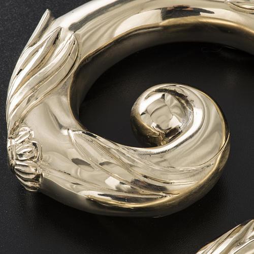 Báculo em prata 966/1000 e metal mod. dourado 9