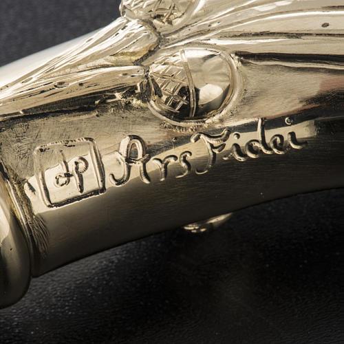 Báculo em prata 966/1000 e metal mod. dourado 10