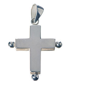 Pendant cross in 925 silver with relic case s1