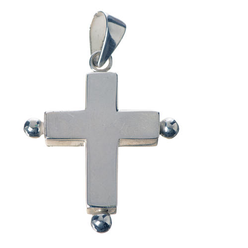 Pendant cross in 925 silver with relic case 1