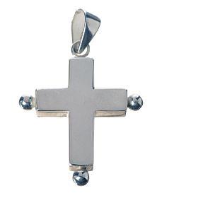 Colgantes, cruces y broches: Cruz colgante plata 925 con porta reliquias.