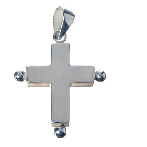 Croce pendente argento 800 con portareliquie 1