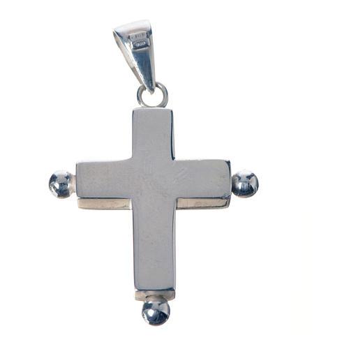 Croce pendente argento 800 con portareliquie 2