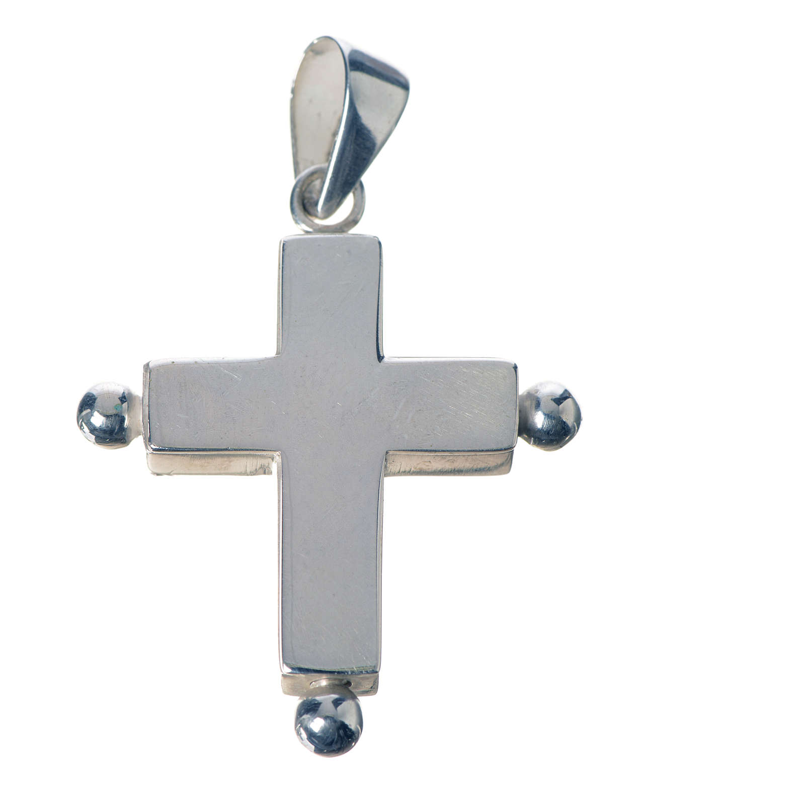 Pendant cross in 925 silver with relic case 4