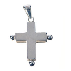Pendant cross in 925 silver with relic case s2