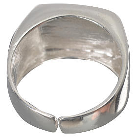 Bishop's ring in 925 silver, polished, with lamb s9