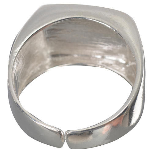 Bishop's ring in 925 silver, polished, with lamb 9