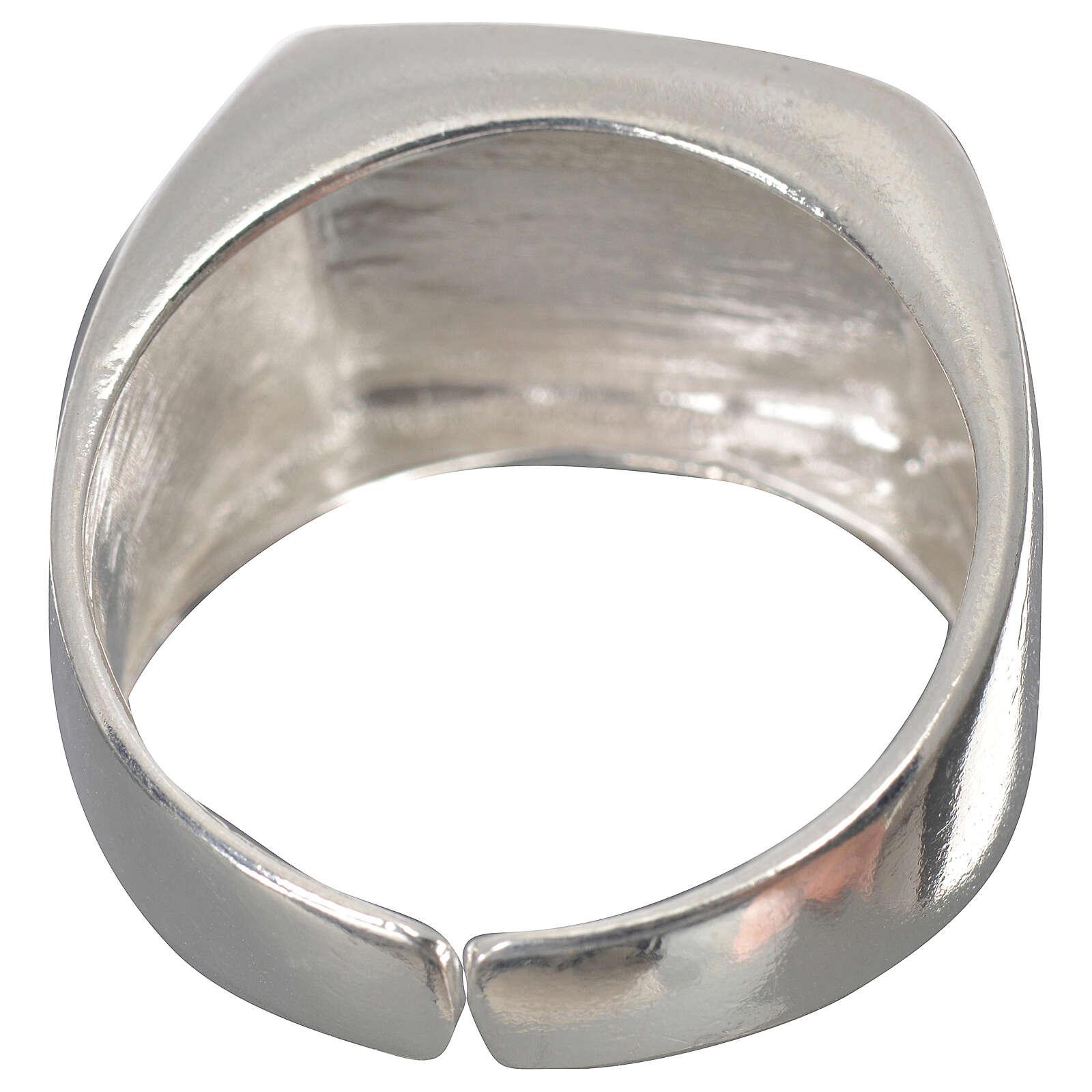 Anello episcopale agnello argento 925 lucido 3