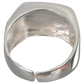 Anello episcopale agnello argento 925 lucido s3
