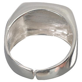 Bishop's ring in 925 silver, polished, with lamb s3