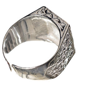 Bishop's ring in 925 silver with cross s3