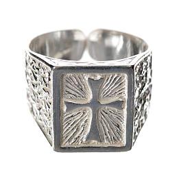 Anillo episcopal con cruz plata 925 s1