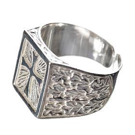 Anello episcopale con croce argento 800 s2