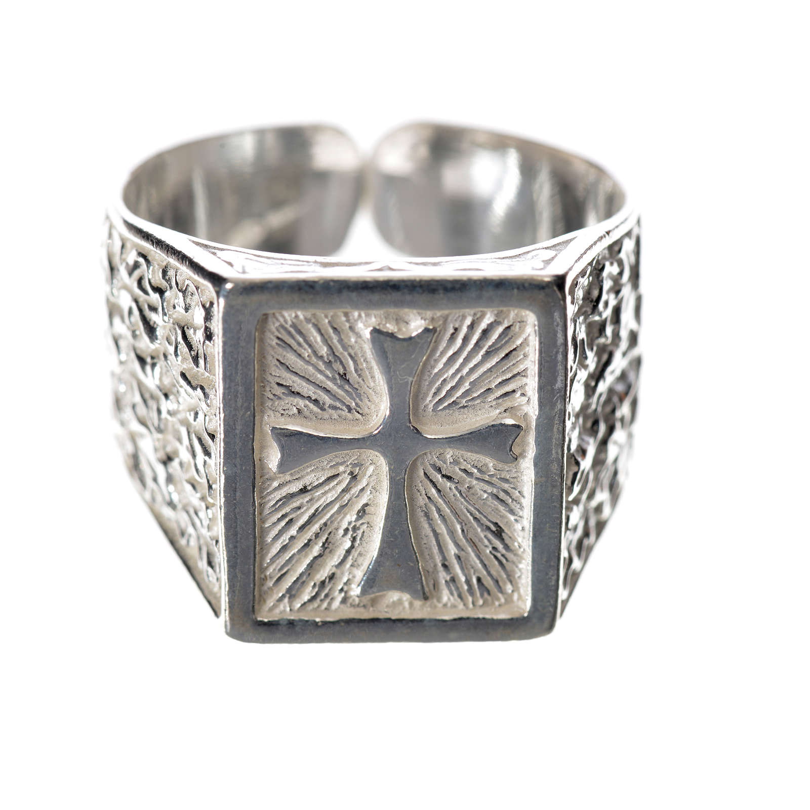 Bishop's ring in 925 silver with cross 3