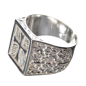 Bishop's ring in 925 silver with cross s2