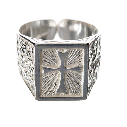 Bishop's ring in 925 silver with cross 1