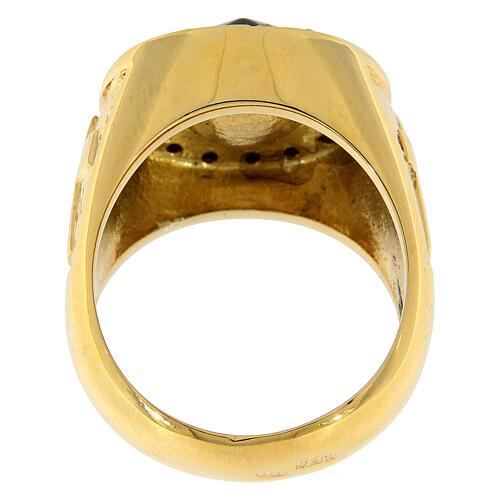 Anello per vescovi argento 925 pietra Swarovski e cristalli 5