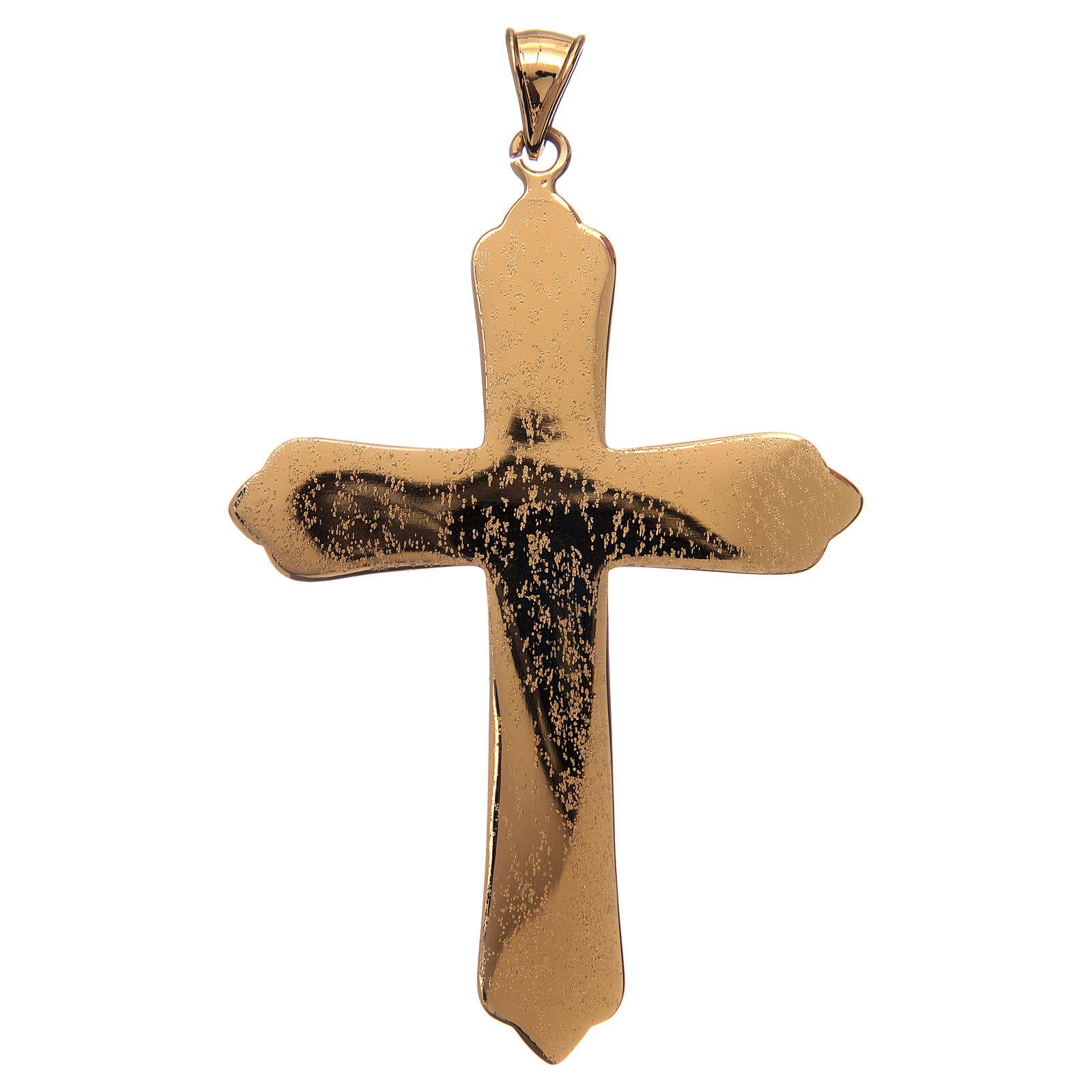 Cruz pectoral plata 925 dorada 4 evangelistas 3