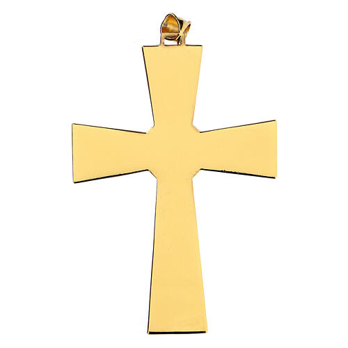 Pectoral cross in gold-plated sterling silver with malachite 4