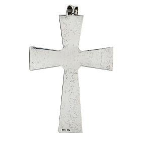 Cruz pectoral plata 925 con malaquita s3