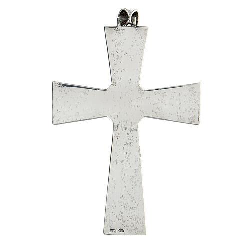 Cruz pectoral plata 925 con malaquita 3