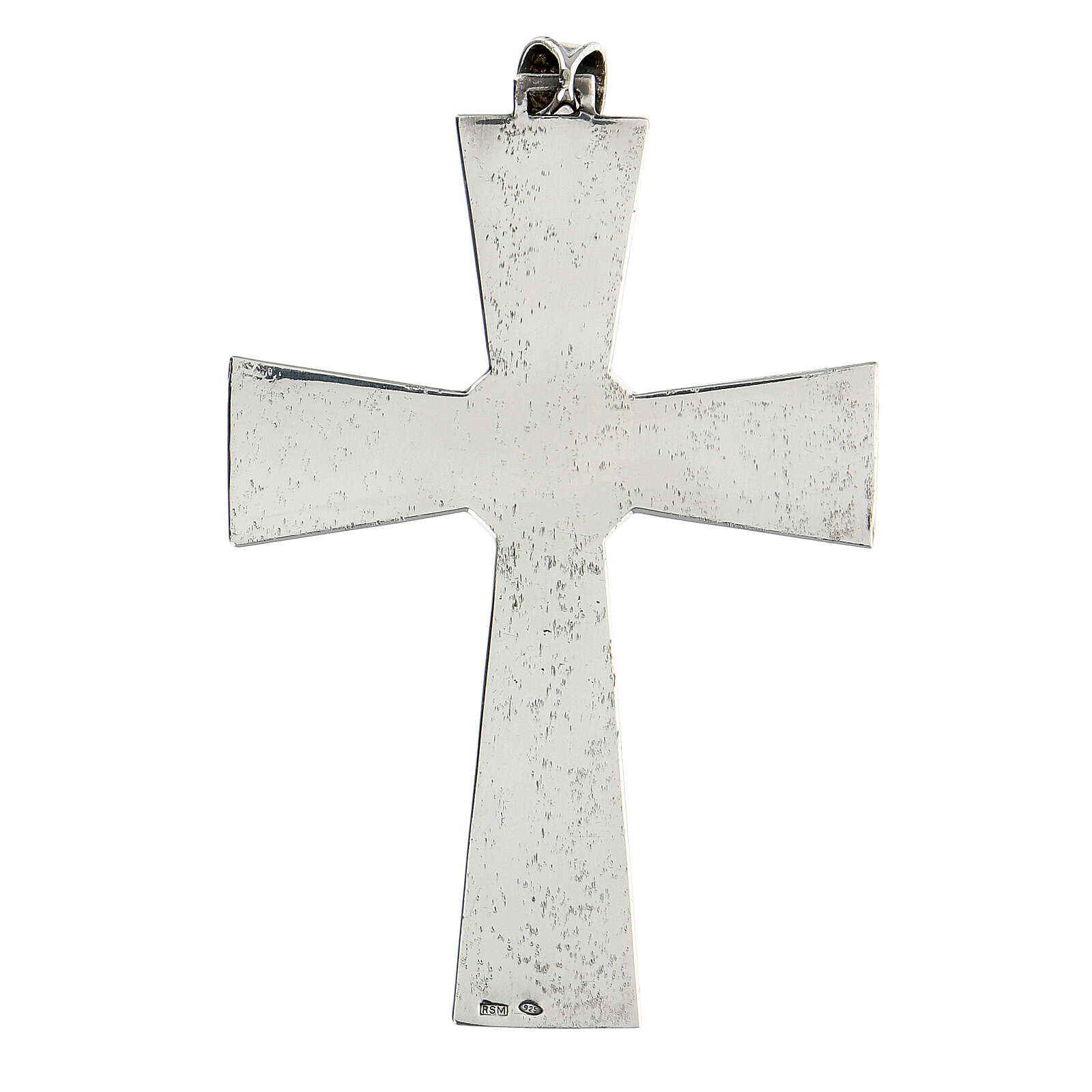 Pectoral cross in sterling silver with malachite 3