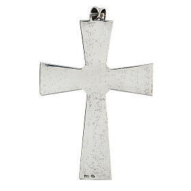 Pectoral cross in sterling silver with malachite s3