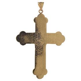 Croce pettorale vescovile argento 925 dorato pietre sintetiche s2