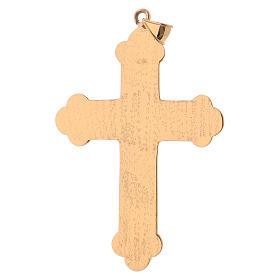 Croce pettorale vescovile argento 925 dorato pietre sintetiche s4