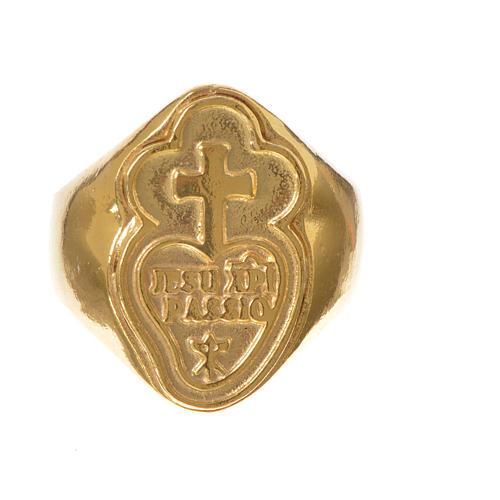 Bague évêque argent 925 doré Passionistes 2