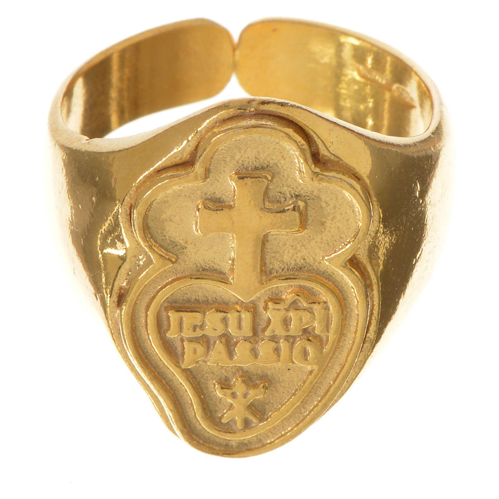 Anello vescovile argento 925 dorato Passionisti 3