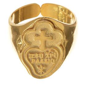 Anello vescovile argento 925 dorato Passionisti s1