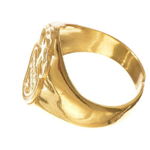 Pierścień biskupi Pasjoniści srebro 925 pozłacane 3
