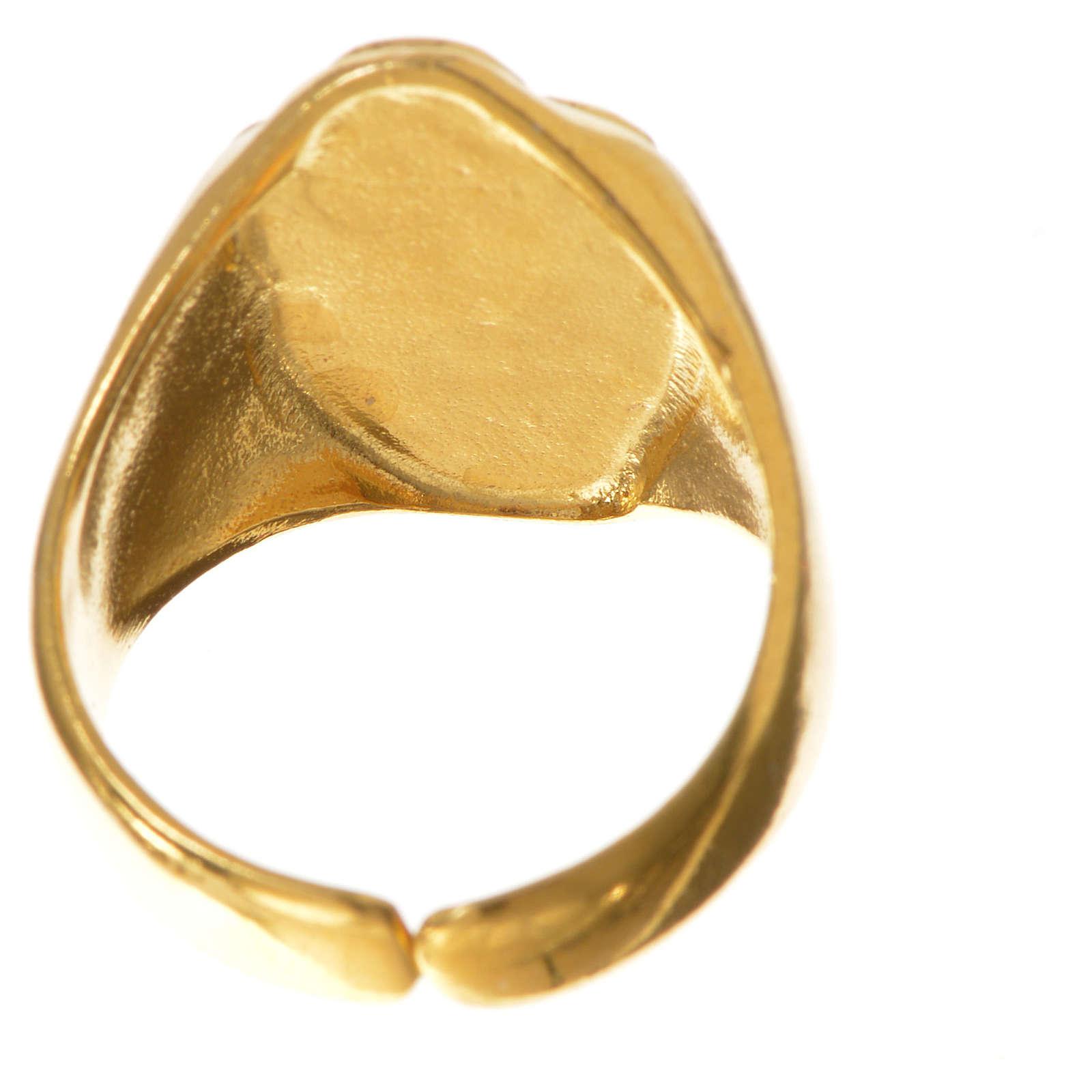 Anel bispo prata 925 dourada Passionistas 3
