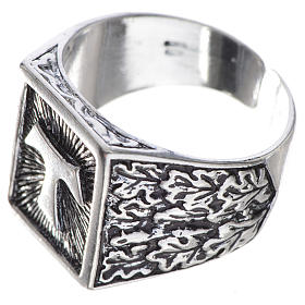 Bishop's ring, burnished 800 silver with Tau cross s3
