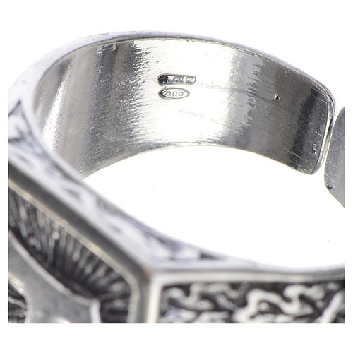 Bishop's ring, burnished 800 silver with Tau cross 4
