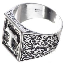 Anello episcopale argento 800 brunito tau s3