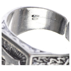 Anello episcopale argento 800 brunito tau s4