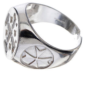 Episcopal ring in 925 silver with Jerusalem cross s3