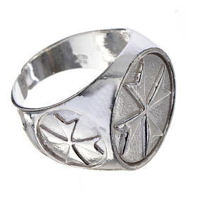Bishop's ring in 925 silver with Maltese cross s3