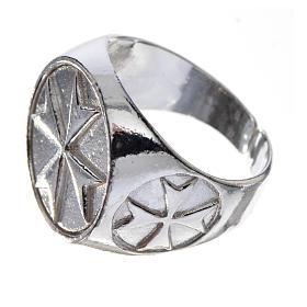 Anello per vescovi argento 925 croce di Malta s2